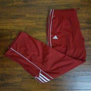 Pants - Power Red Adidas side zip pant 2X
